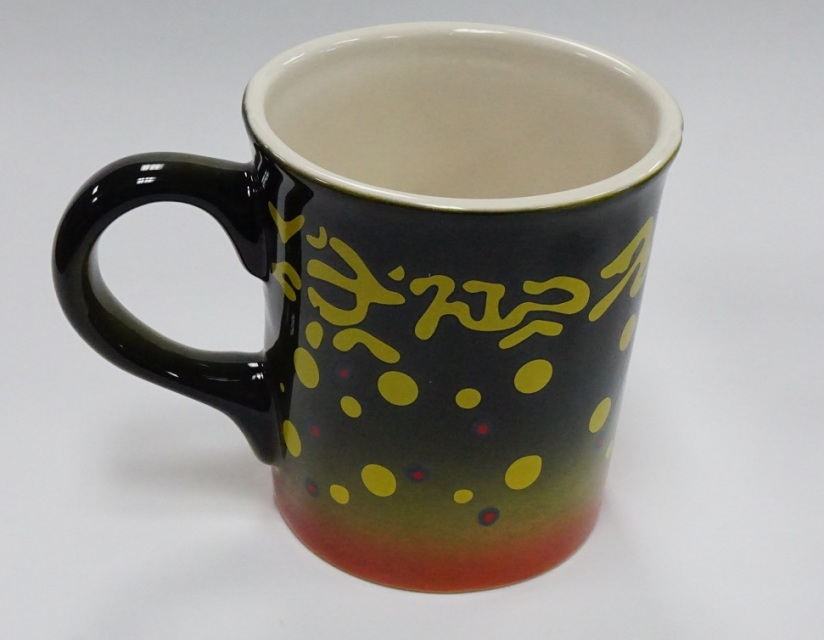 Hand Painted Trout Mugs